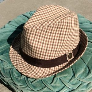 Goorin Brothers Checkered Plaid Fedora Small